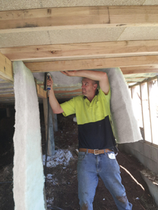 Underfloor insulation install in Tasmania