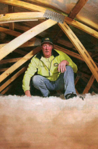 Insulation for the ceiling, walls and underfloor