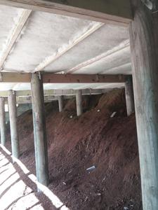 Completed underfloor insulation